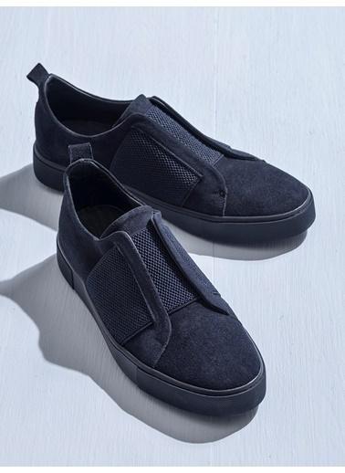 Elle Bağcıksız Ayakkabı Lacivert
